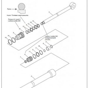 Jatkeen sylinteri koottuna F51FT96 ja CF1, täyd.