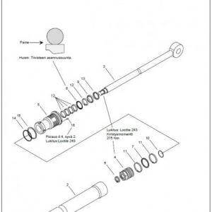 Jatkeen sylinteri F61/F71FT100 ja CF510, täyd., koottuna
