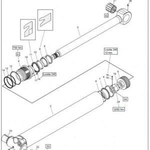 Siirtosylinteri koottuna F71F, F83F, J720 ja CF5, täyd.