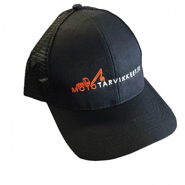 Lippis, musta, Mototarvikkeet logolla